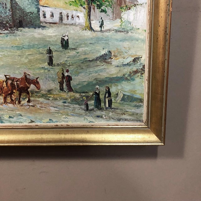 Canvas Framed Oil Painting on Canvas For Sale - Image 7 of 11