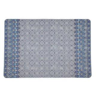 Nicolette Mayer Iznik Classic Rectangle Pebble Placemats, Set of 4 For Sale