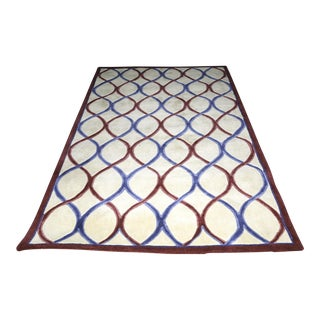 "Royal Palace ""Trellis"" Wool Rug - 5' x 8' For Sale"