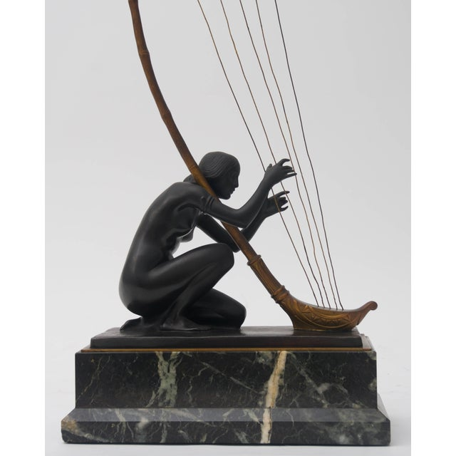 Art Deco Art Nouveau Transition Bronze Sculpture by Hans Muller For Sale - Image 3 of 7
