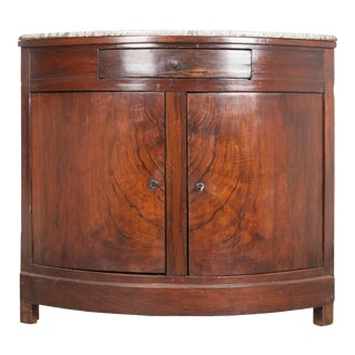19th Century French Rosewood Demilune Corner Buffet For Sale