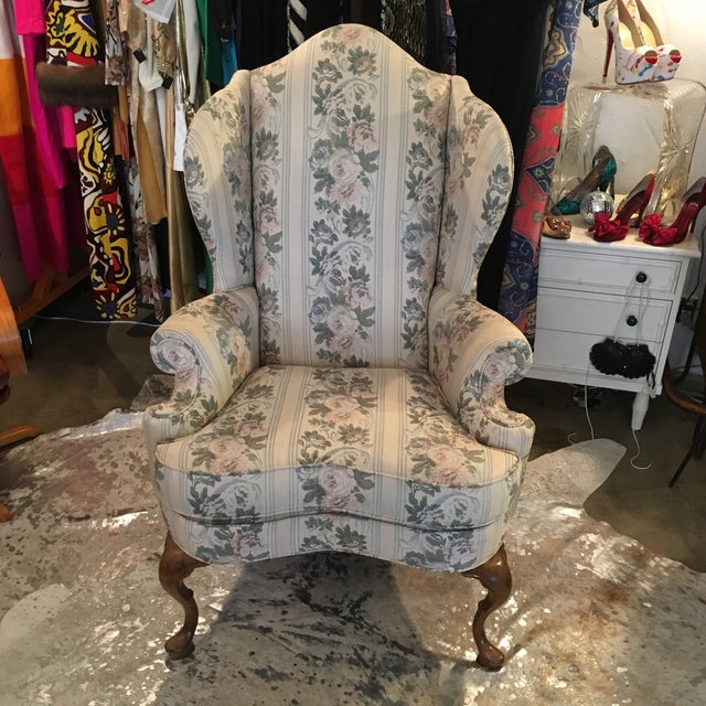 Pennsylvania House Chippendale Style Wingback Chair - Image 10 of 10