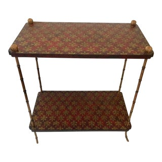 1960s Vintage Italian Two Tier Side Table For Sale