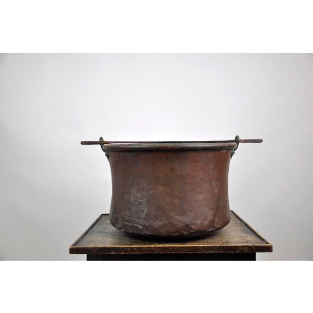 Antique French Copper Cauldron Kettle For Sale - Image 13 of 13
