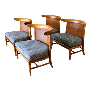 Mid-Century Tomlinson Sophisticate Slipper Chairs - Set of 4 For Sale