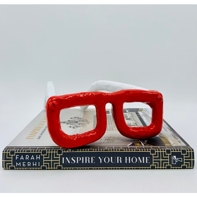 Mid Century Modern Monumental Reading Glasses For Sale In Tulsa - Image 6 of 11