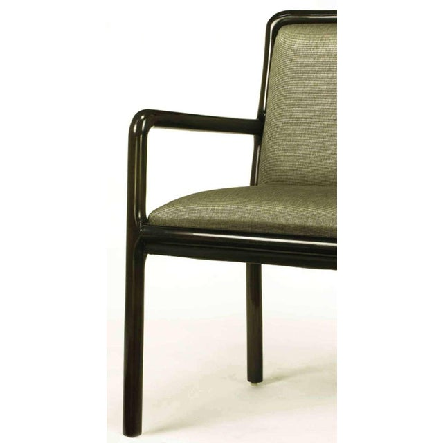 Four Martin Brattrud Ebonized & Upholstered Arm Chairs. - Image 7 of 9