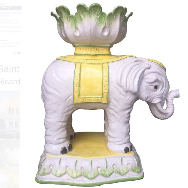 Vintage Italian Elephant Stand with Bowl Top - Image 2 of 5
