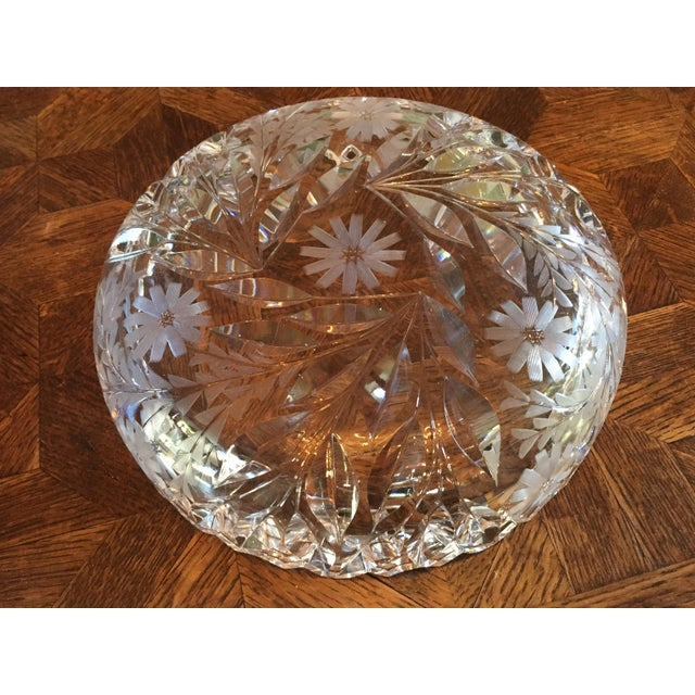 Decorative Cut Glass / Crystal Bowl - Image 4 of 6