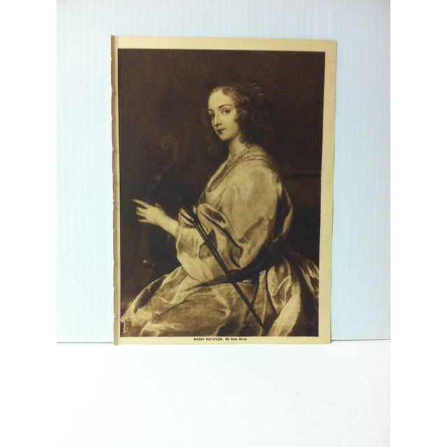 """This is an Antique The Mentor Association Print on Paper that is titled """"Maria Ruthven"""". The Print was Published by The..."""