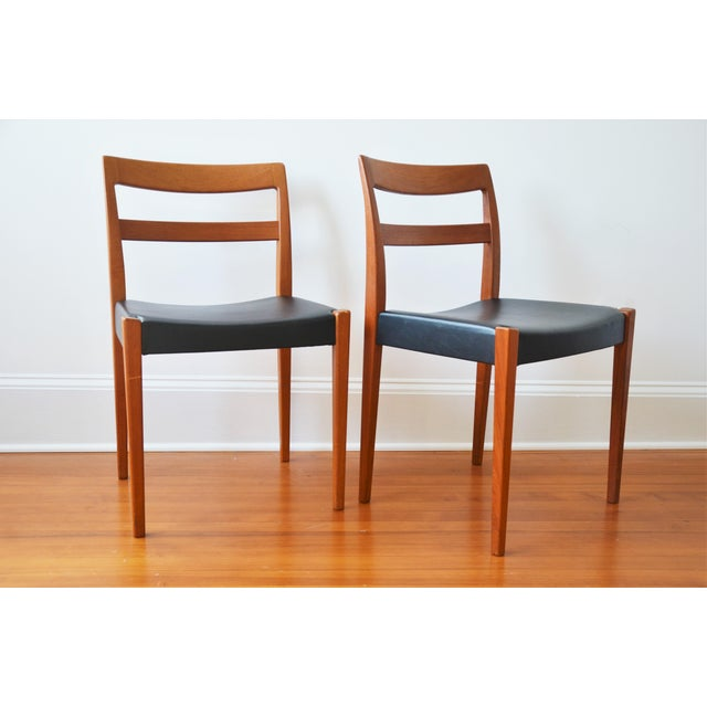 """Swedish Modern Teak """"Garmi"""" Dining Chairs by Nils Jonsson for Troeds - a Pair For Sale - Image 11 of 11"""