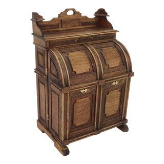 Vintage Artist Made Miniature Victorian Wooton Desk For Sale