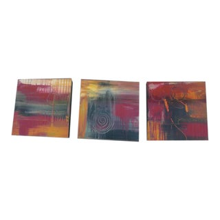 Colorful Abstract Series Paintings - Set of 3 For Sale