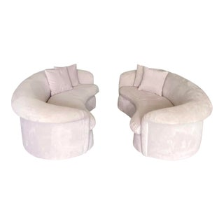 Contemporary Matched Pair of Preview Roll Back Sofas For Sale