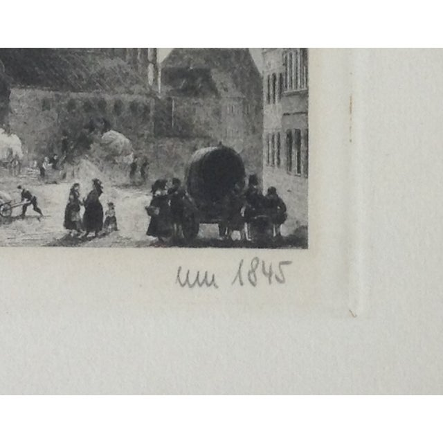 Signed German Stone Etchings - A Pair For Sale In West Palm - Image 6 of 11