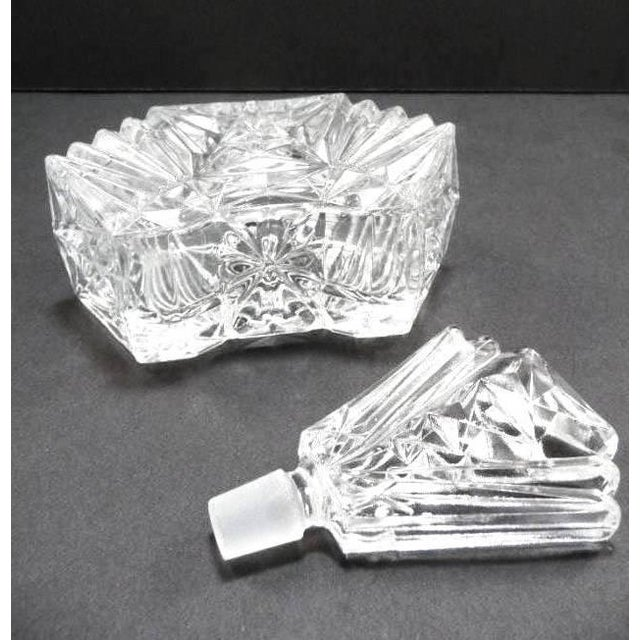 Art Deco Crystal Perfume Bottle Pompadour - Image 8 of 9