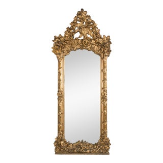 Late 19th Century Ornate Austrian Mirror For Sale