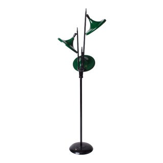 1950s Vintage Gerald Thurston for Lightolier Mid Century Modern Lacquered Metal Triennale Floor Lamp