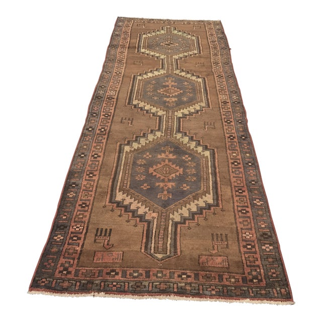 "Vintage Persian Zanjan Runner - 3'5"" x 9'6"" - Image 1 of 11"