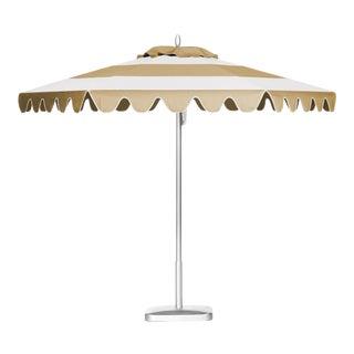 Desert Sand 9' Patio Umbrella, Tan & White