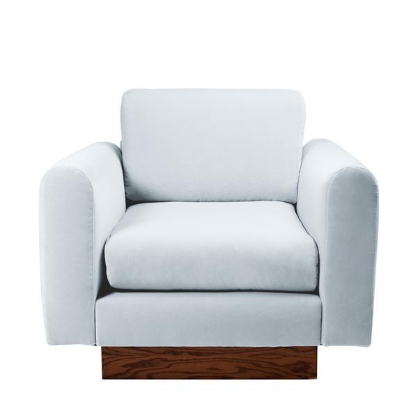 Harvey Probber Lavender Velvet Club Chairs - Pair - Image 6 of 10