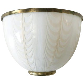 Vintage Italian Cream Murano Glass Sconces by Fabbian for Mazzega For Sale