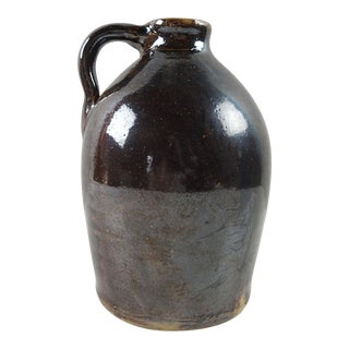 Vintage Hand Thrown Brown Jug