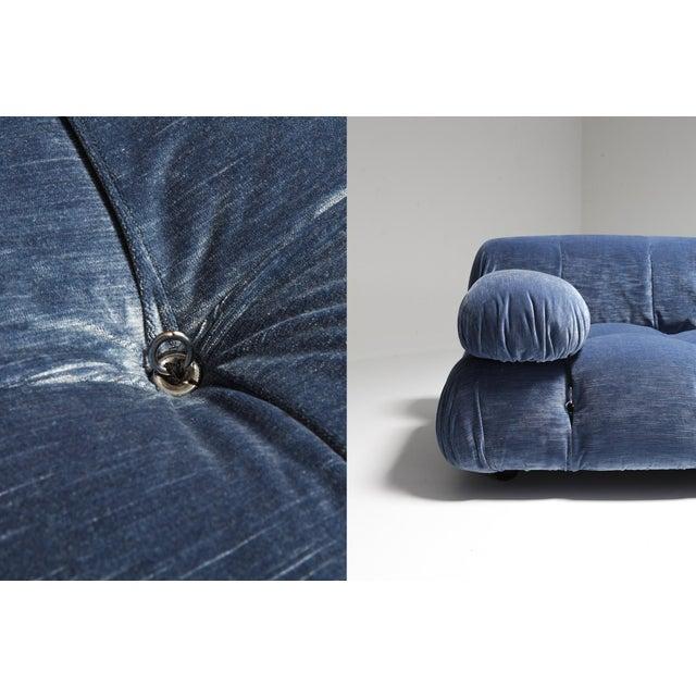 1970s Mario Bellini Camaleonda Sectional Sofa in Blue Velvet For Sale - Image 5 of 9