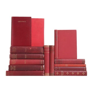 Red Distressed Poetry Classics, S/14 For Sale