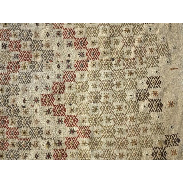 """Vintage Turkish Natural Kilim Runner-2'9'x10'11"""" For Sale - Image 6 of 13"""