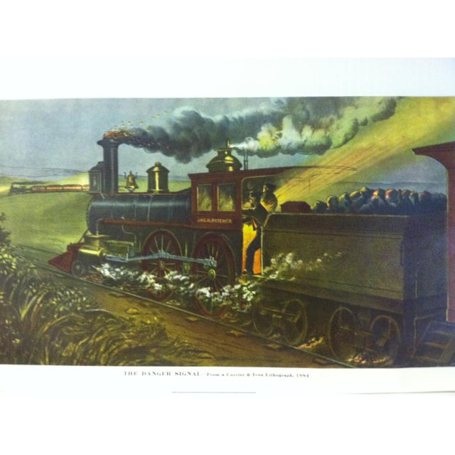"""This is a reproduction of a Currier & Ives color print that is titled """"The Danger Signal - 1884"""". The print is dates from..."""