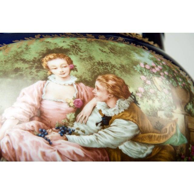 Late 19th Century Vintage Pair Limoges Porcelain Jardiniere/Cache Pot For Sale - Image 5 of 6