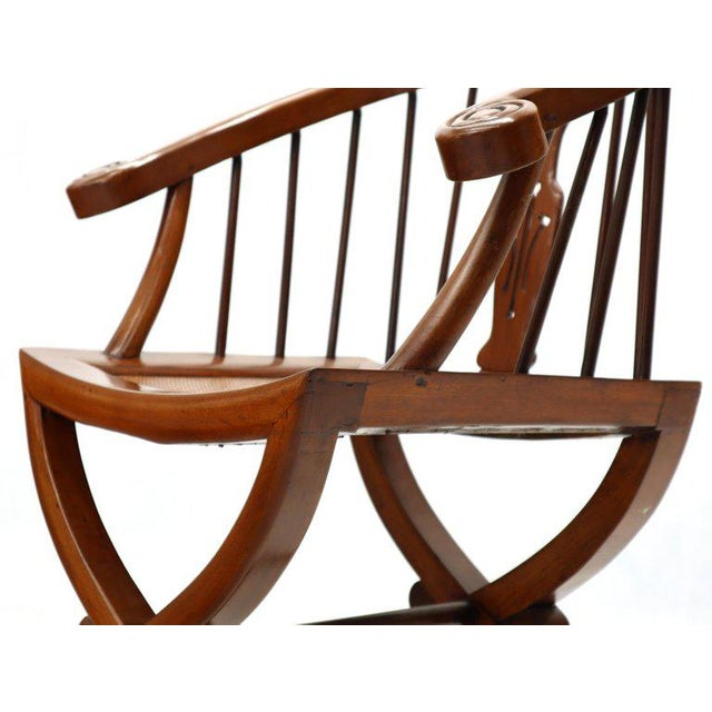 1970s Teak Horseshoe Back Lounge Chairs - a Pair For Sale - Image 10 of 13