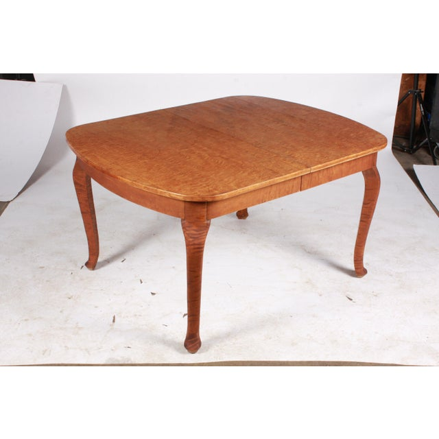 Birch Art Nouveau Swedish Dining Table For Sale - Image 7 of 9