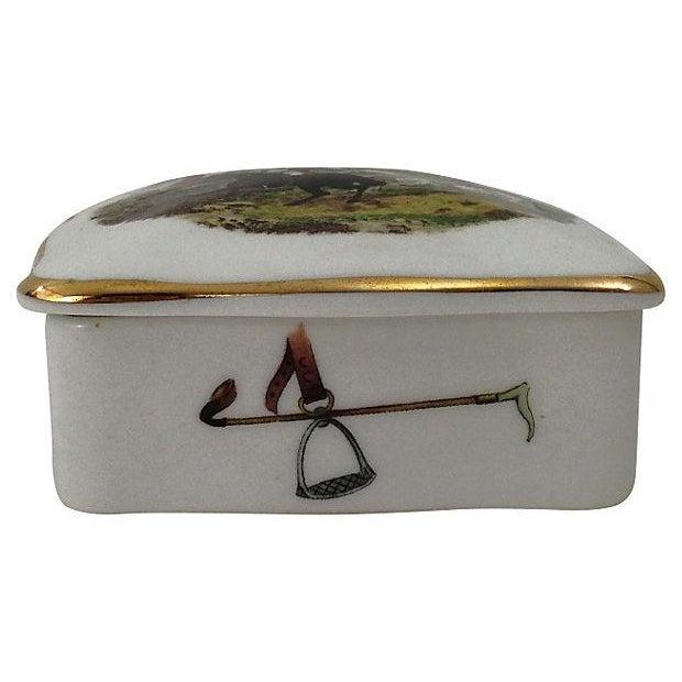 Hunt Scene Bone China Box - Image 2 of 5