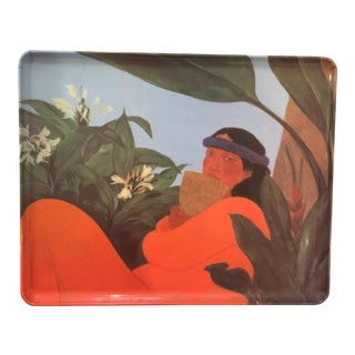 "Pegge Harper ""Walk Across the Sea"" Hawaiian Tray For Sale"