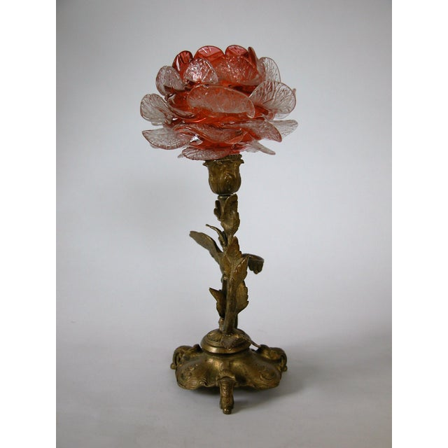 19th C. French Gilded Bronze & Glass Epergne - Image 3 of 8