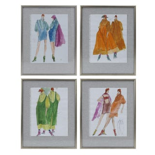 Original Gordon Henderson Fashion Sketches For Sale