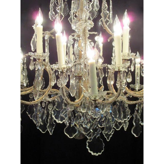Superb grand 18th century italian beaded piedmont crystal grand 18th century italian beaded piedmont crystal chandelier image 4 of 5 mozeypictures Images