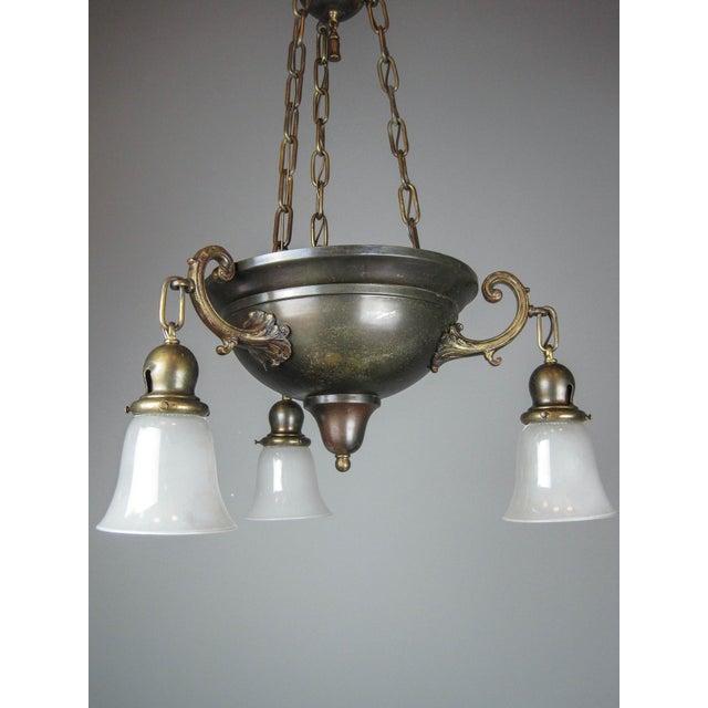 Arts & Crafts Original Arts & Crafts Bowl Light Fixture For Sale - Image 3 of 11