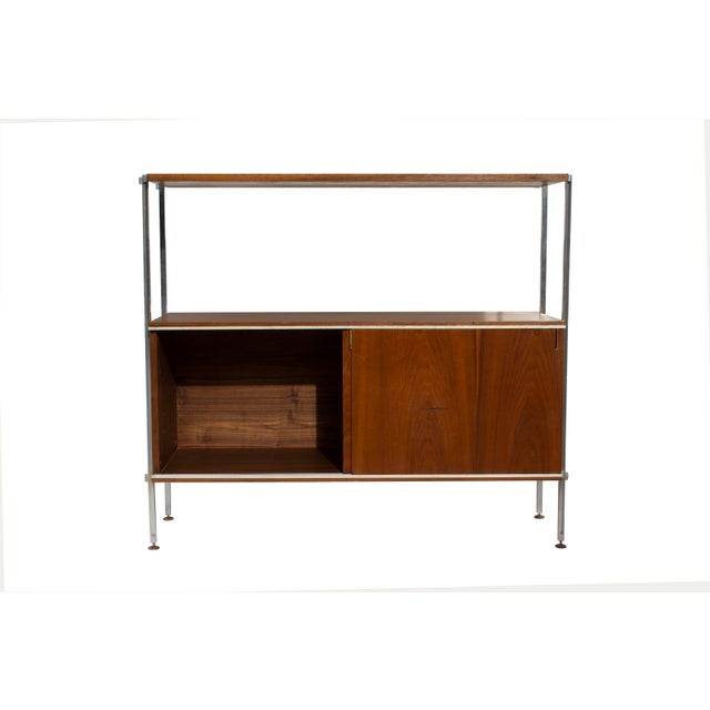 Brown Walnut and Aluminum Cabinet by Hugh Acton For Sale - Image 8 of 13
