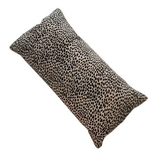 Cheetah Printed Cow Hide Bolster For Sale
