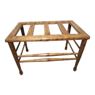 C. 1890s Wooden Luggage Rack For Sale