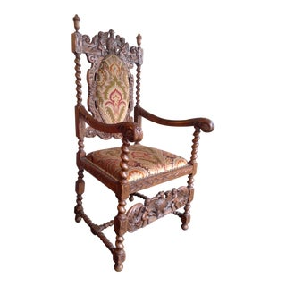 17th Century Jacobean Style Arm Chair For Sale
