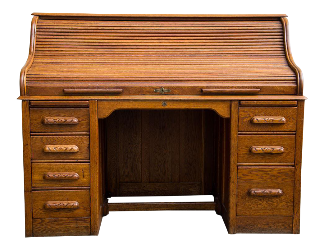 American Antique Oak Roll Top Desk  sc 1 st  Chairish : childrens roll top desk and chair - Cheerinfomania.Com