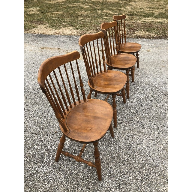 Set of 4 vintage S. Bent & Bros. Windsor chairs. Overall nice condition with a few minor marks as would be expected from...
