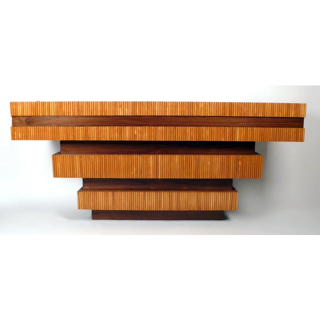 Modern Dowel Console Table For Sale - Image 3 of 10