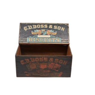 19th Century Store Display Biscuit Box For Sale