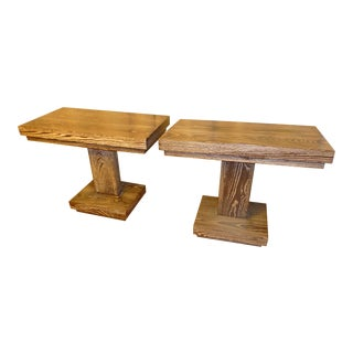 1940s Art Deco Style Side Tables - a Pair For Sale