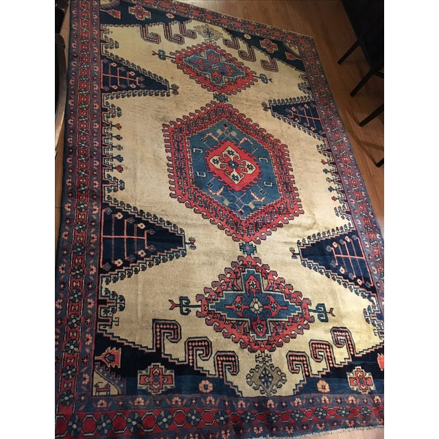 Antique Hand Knotted Persian Rug - 10 X 7 - Image 3 of 11